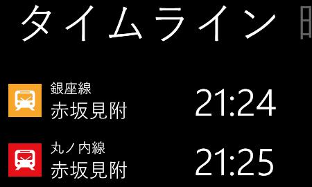 Train Timeline for Tokyo
